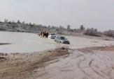 باشگاه خبرنگاران - عبور دشوار خودروها از رودخانه «جگین» + فیلم