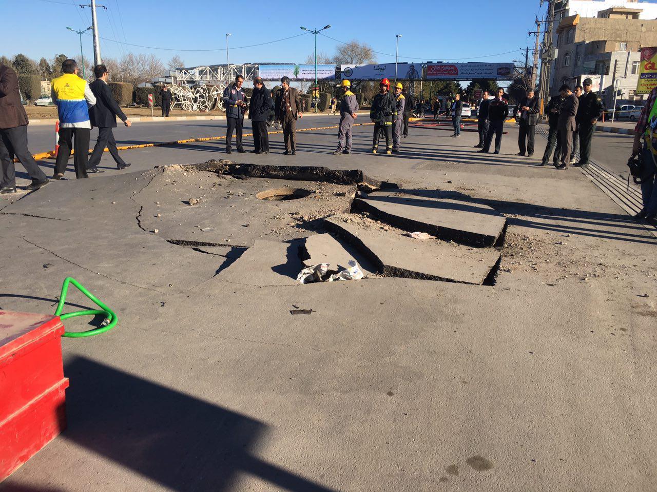 انفجار لوله گاز در میدان ارتش قزوین