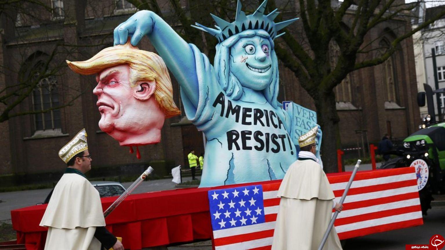 تمسخر ترامپ در یک جشنواره آلمانی+تصاویر