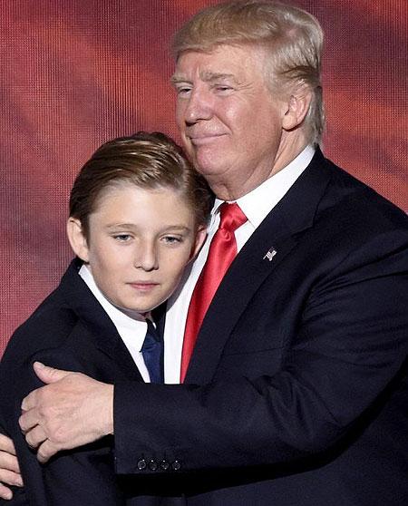 بیماری مرموز پسربچه ترامپ!