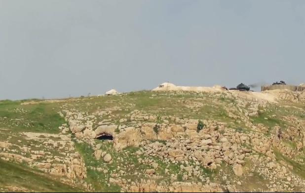 انهدام یک تانک ترکیه در حمله موشکی داعش+ تصاویر