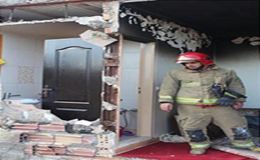 یک خانه در خیابان گندم منفجر شد+تصاویر