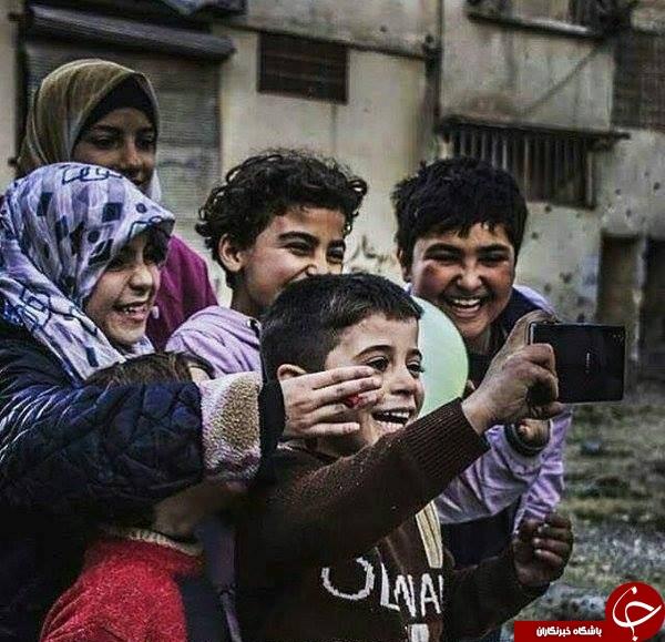 کودکان سوری هنوز هم شادی را فراموش نکرده اند +عکس