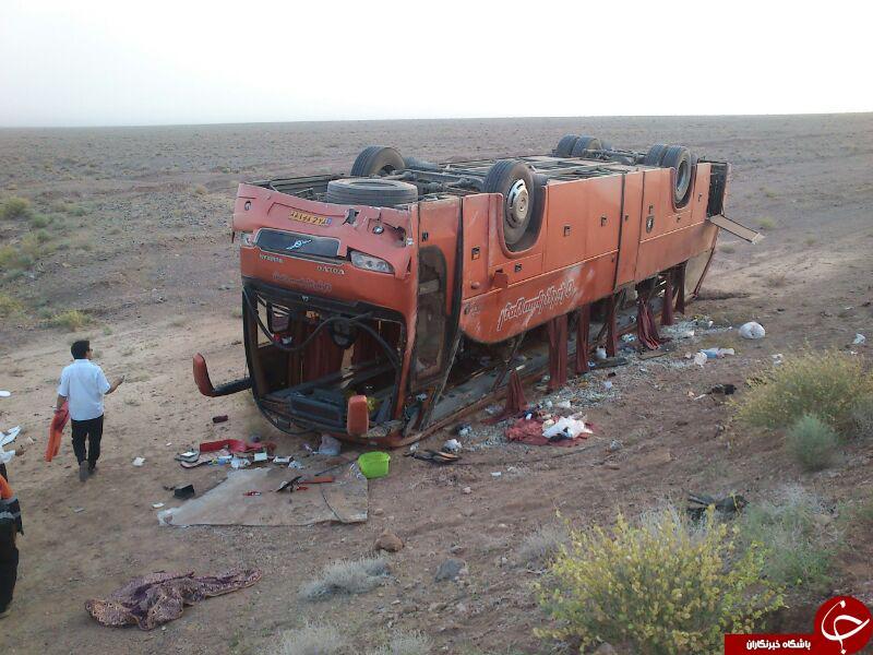 واژگونی اتوبوس در اصفهان 27 مصدوم بر جای گذاشت