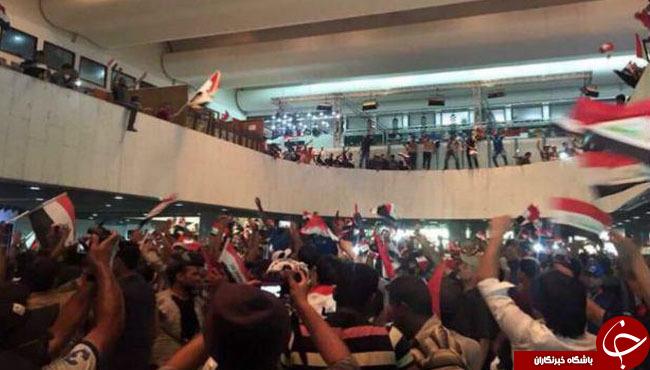 تحصن هوادارن مقتدی صدر در صحن مجلس عراق/سازمانملل مقرهای خود را در بغداد بست+ تصاویر