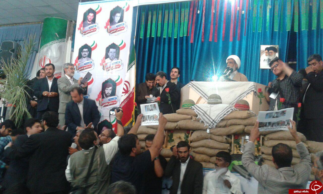 سخنرانی احمدی نژاد در مصلای جیرفت + تصاویر