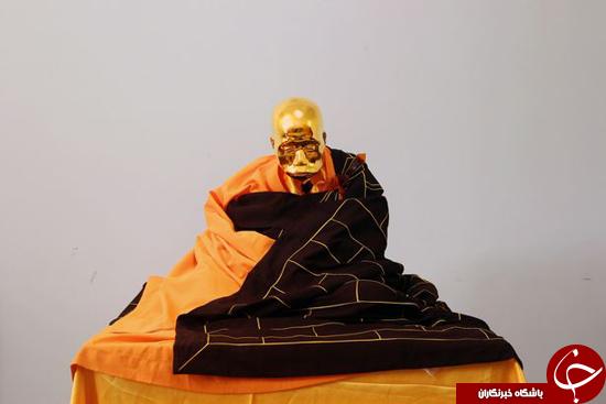 راهب مومیایی شده طلاکاری شد + تصاویر