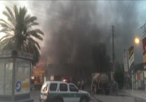 بیمارستان 17 شهریور برازجان آتش گرفت + تصاویروفیلم