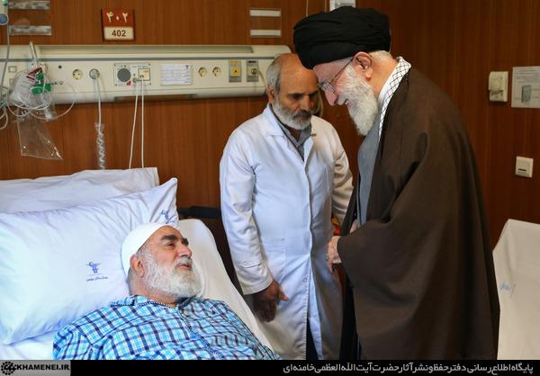 رهبر انقلاب از حجتالاسلام محمدی گلپایگانی و همسر شهید بابایی عیادت کردند