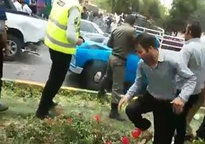شلیک پیاپی پلیس به نیسان گوجه و خیار! + فیلم