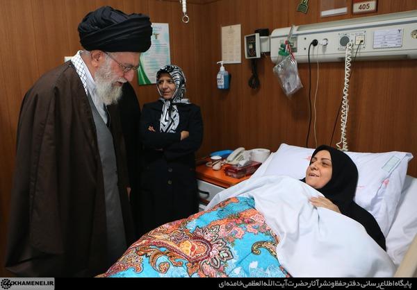 رهبر انقلاب از حجتالاسلام محمدی گلپایگانی و همسر شهید بابایی عیادت کردند+ تصاویر