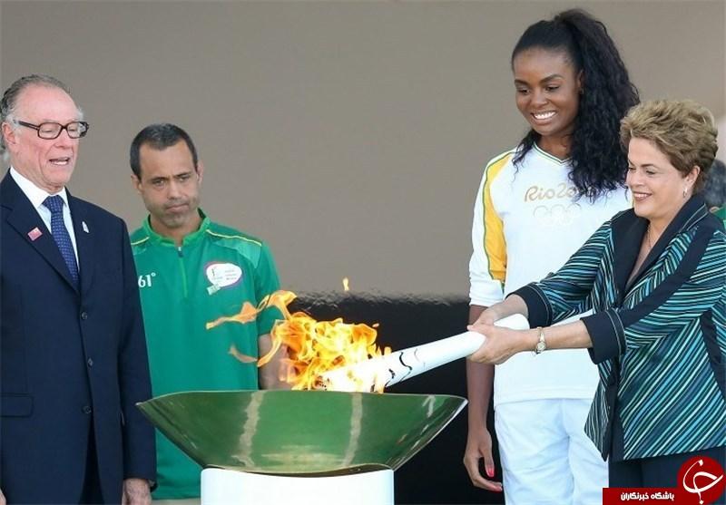 مشعل المپیک 2016 در برزیل روشن شد