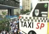 باشگاه خبرنگاران -تظاهرات رانندگان تاکسی در سائوپائولو + فیلم