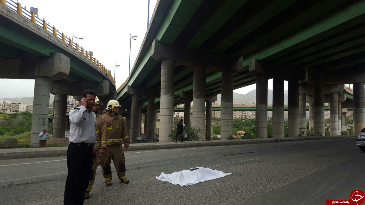 خودکشی دختری 18 ساله در اتوبان نیایش + تصاویر
