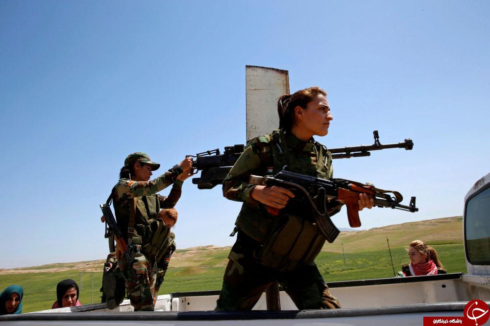 دختران کماندوی کرد در میدان جنگ علیه داعش+تصاویر
