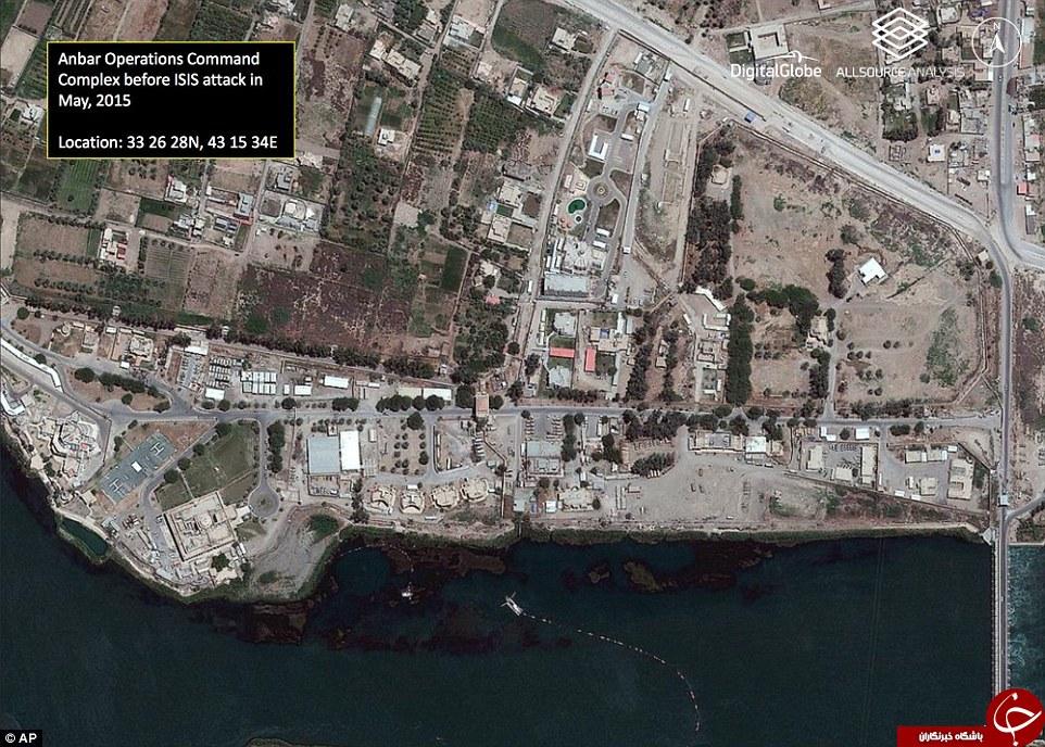 عکس های ماهواره ای از شهر رمادی/خمپاره های عمل نکرده به جای درختان