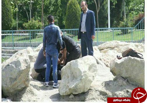 سقوط زن جوان به زاینده رود+تصاویر