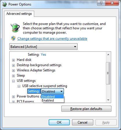 حل مشکل از کار افتادن ناگهانی درگاه USB در محیط ویندوز
