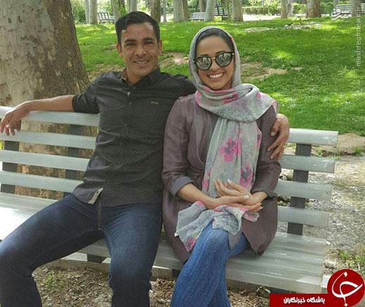عکس/گرانترین بازیکن پرسپولیس به همراه همسرش