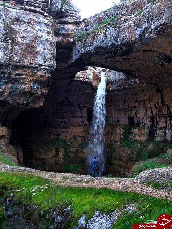 عکس آبشار زندگی در لبنان توریستی لبنان آبشار لبنان Lebanon