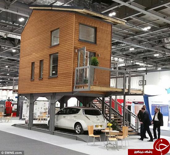 خانه زیبای نقلی که روی اهرمها بنا شده + تصاویر