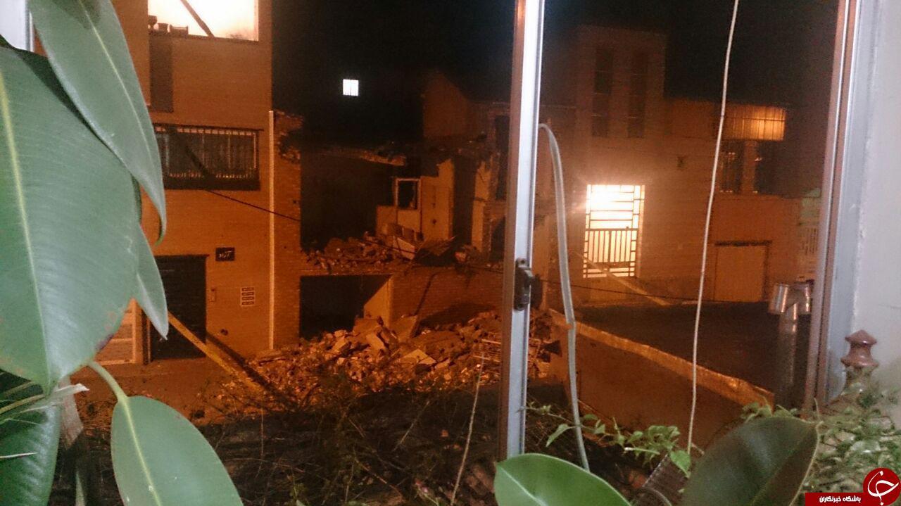 انفجار خانه مسکونی بر اثر گاز + تصاویر