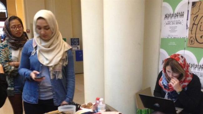 «روز حجاب» در دانشگاه پاریس
