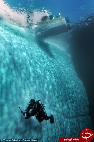 تصاویر زیبا از کوههای یخی