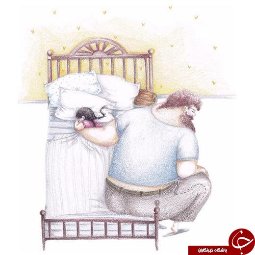 4417504 607 تصاویری از عشق میان پدر و همچنین دختر