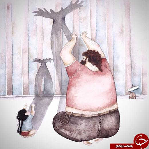 4417508 674 تصاویری از عشق میان پدر و همچنین دختر