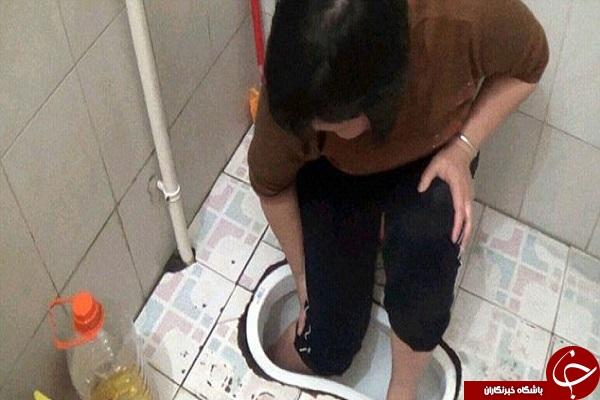 نجات یک زن پس از گیر کردن در کاسه سرویس بهداشتی + عکس