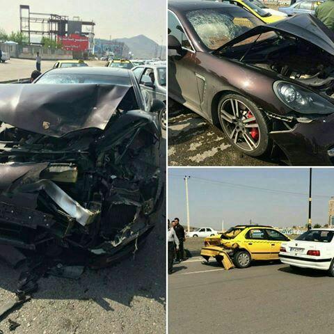 تصادف پورشه در تبریز