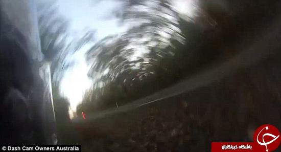 لحظه وحشتناکی که موتورسوار کنترل موتور را از دست میدهد + تصاویر