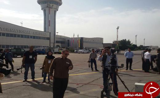 هواپیمایی رییس جمهور در فرودگاه کرمان به زمین نشست+تصاویر