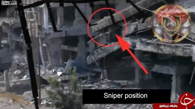پودر شدن تکتیرانداز داعش بر اثر اصابت موشک +تصاویر