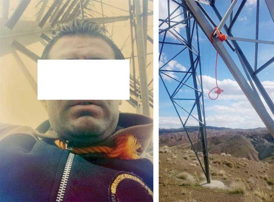 مرد جوان قبل از خودکشی با طناب دار سلفی گرفت+عکس
