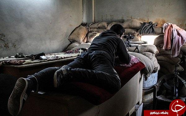 نبرد تک تیرانداز سوری در مقابل تک تیرانداز داعشی + فیلم و عکس