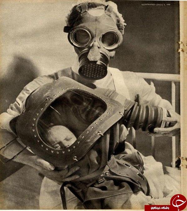 پرستار و کودک بی دفاع در حال فرار از مرگ +عکس
