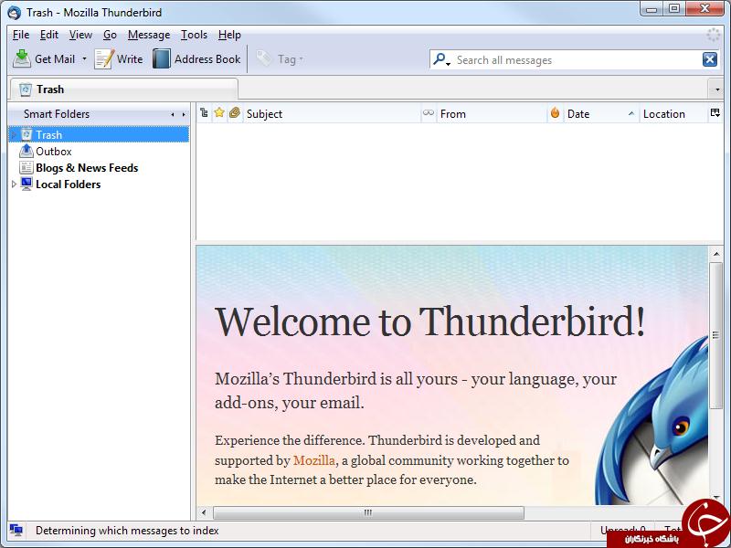 مدیریت همه ایمیل ها در Mozilla Thunderbird