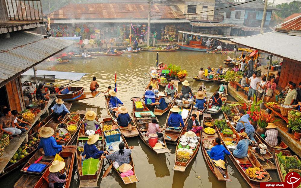 بازار شناور درمالزی +تصاویر
