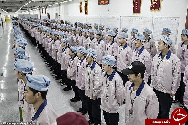 زندگی سخت کارگران اپل در چین// در حال کار
