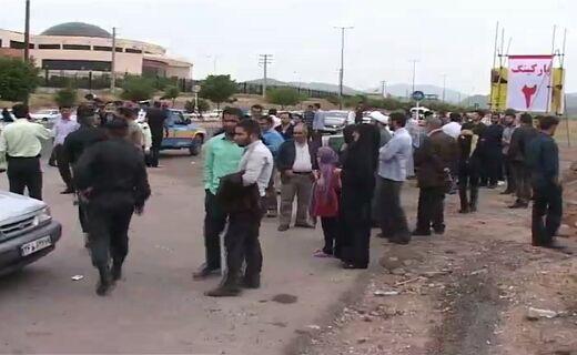 تجمع دانشجویان در اعتراض به سفر هاشمی به قزوین   تصاویر
