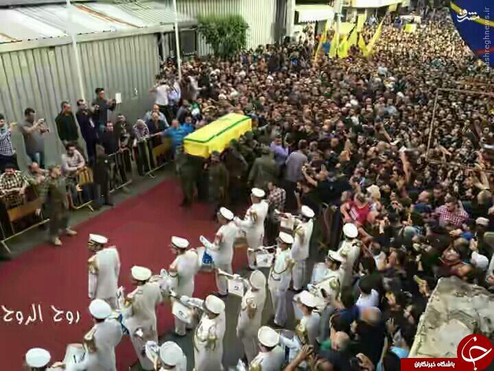 تشییع باشکوه فرمانده نظامی حزب الله در بیروت/ ذولفقار آرام گرفت+تصاویر