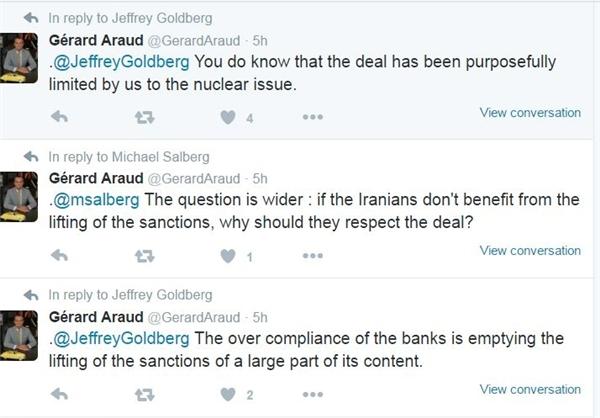 انتقاد دیپلمات فرانسوی از سیاست دوپهلوی واشینگتن در قبال توافق ایران