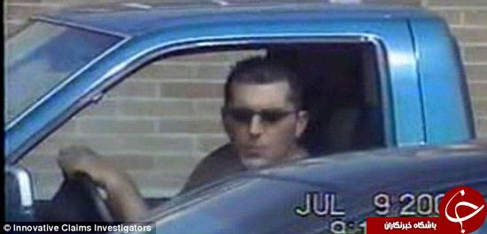 مردی که ادعا میکرد نابیناست در حال رانندگی دیده شد + تصاویر