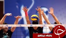 شکست والیبال ایران مقابل فرانسه در ديدار دوستانه