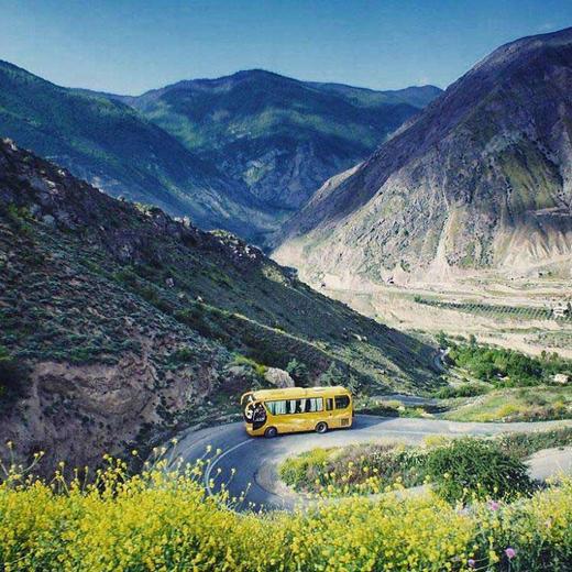عکس/ جادهای دیدنی در شمال ایران