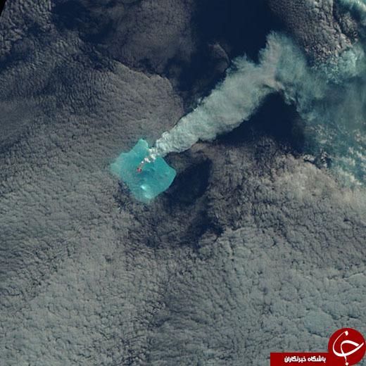فوران آتشفشانی که هیچکس آن را روی زمین ندید/عکسهای ماهواره ناسا