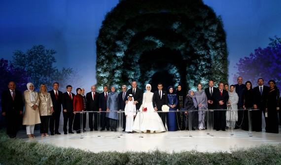 مراسم ازدواج دختر اردوغان در استانبول/ داووداغلو شاهد عقد بود+ تصاویر