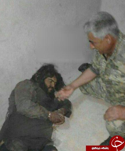 غول داعشی اسیر شد + عکس